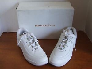 Naturalizer Medalist White Leather Sneakers