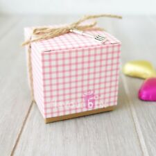 10x Baby Shower Favour Boxes Chocolate Cookie Macaron Mini Cupcake Box