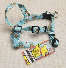 "*NEW* Yellow Dog Design Blue Flowered Step-in Harness - Small 9""-15"""