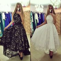 Women Elegant Lace Long Maxi Evening Dress Cocktail Ball Gown Prom Party DRESSES