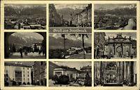 Innsbruck Tirol Österreich 9-fach Mehrbild Grußkarte 1938 Goldenes Dachl Dom u.a