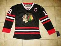 NEW Reebok NHL Chicago Blackhawks Jonathan Toews Sewn Fight Strap YOUTH Medium