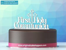 """First Holy Communion"" White - Cake Topper - Made by OriginalCakeToppers"