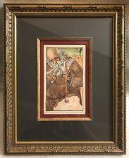 SALVADOR DALI 1946 FRAMED 1ST EDITION PRINT From Benvenuto Cellini ~ W/ COA
