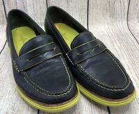 Cole Haan Lunargrand Penny Loafer Black Leather Slip On Shoes Women's 8.5 B