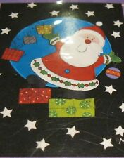 New listing Garden Art Flag Santa Snowflakes Gifts Black Small 12.5x18 Christmas Holiday Nip