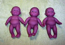 "NEW 3 Berenguer Doll AA Ethnic Lots To Love 5"" Mini Nursery Baby Out Of Box"
