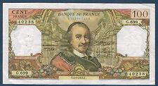FRANCE - 100 FRANCS CORNEILLE Fayette n° 65.41 du 4-1-1973.T en SUP G.699 40238