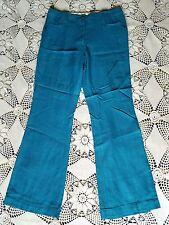 Vintage heavy teal gothic western disco rodeo cowgirl clown burning man pants M