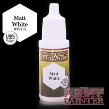 The Army Painter Paints Acrylic Warpaint Matte White 18 ML Eyedropper Bottle NIB