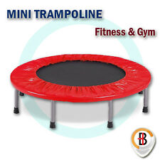 """40"""" Mini Trampoline Jogger Rebounder Home Gym Workout Fitness Outdoor Indoor Red"""