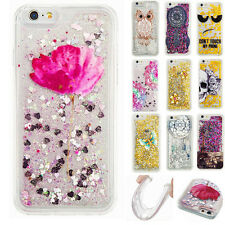 Shockproof Dynamic Liquid Bling Quicksand Patterned TPU Rubber Soft Case Cover