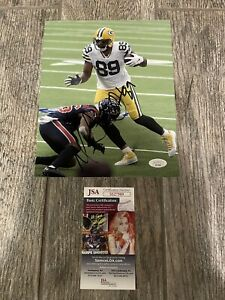 MARCEDES LEWIS SIGNED GREEN BAY PACKERS PHOTO AUTO JSA COA AUTOGRAPHED
