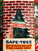 New Old Stock Vintage 1960's Safe*Tree 25 Christmas Light Set in Box-Outdoor-C9