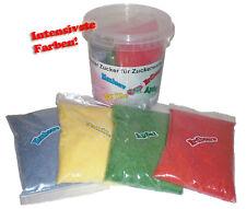 4x 200Gr Farbomazucker Zucker zum färben von Popcorn Farbiges Popcorn Bunt TOP!!