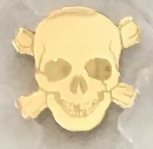 2017 Palau $1 Gold Pirate Skull PCGS MS 69 FDOI
