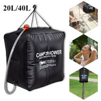 Camping Shower Portable Compact Solar Sun Heating Bath Bag Outdoor Camp 20L/40L