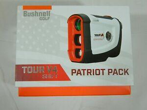 New Bushnell Tour v4 Shift Patriot Pack Laser Rangefinder V 4 Golf Slope