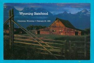 Wyoming Centennial - Scott #2444 - First Day Ceremony Program