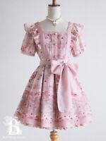 🌹LIZ LISA🌹Raspberry Floral One Piece Dress S/S Pink Romantic Japan G079