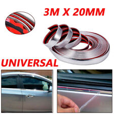 3M Useful  20mm Car Chrome DIY Moulding Trim Strip For Grille Window Door Bumper