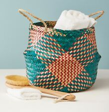 Large Seagrass Basket Tea/Red