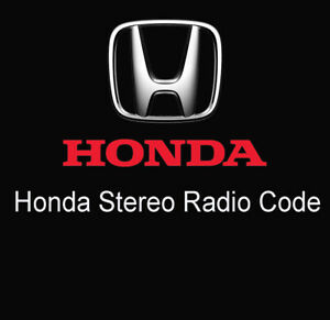 Honda Car Radio Stereo Code Retrieval Service Radio Decode By Serial Number Uk