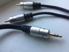 3.5mm Mini Stereo Jack to Jack Male Aux Cable Audio Auxiliary Lead Car PC 1M