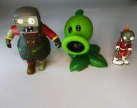 Garden Warfare Welder Zombie & Rare Jetpack Zombie & Peashooter Lot of 3