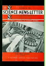 1948 Science News Letter: Robot Phone Accountant - Automated Billing