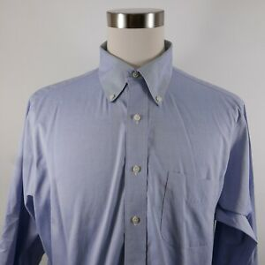 Brooks Brothers Mens Non Iron Classic Fit LS Button Down Light Blue Shirt 17-34