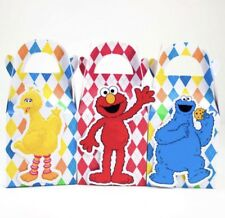 6x Sesame Street Lolly Loot Bag Box. Party Supplies Bunting Elmo Cookie Monster