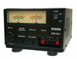 MAAS KPO Jetfon SPS 30 II PSU 35 AMP Power Supply 13.8V Ham Radio CB UK Plug