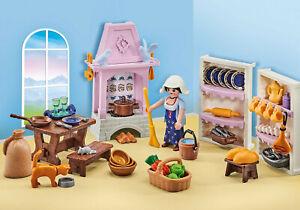 Playmobil 9875 Castle Medieval Kitchen Cook Utensils Stove Sealed addon