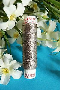 """336B / Superb Coil Wire Clear Silk """" Calanda """" Zwicky Grey N° 921"""
