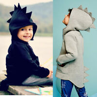 Child Kids Baby Dinosaur Style Hooded Coat Boy Girl Outwear Jacket Tops Clothes