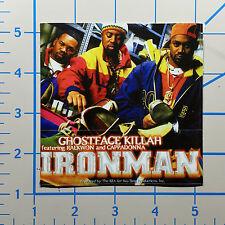 "Wu Tang Ironman Ghostface Killah 4"" Color Vinyl Decal Sticker BOGO"