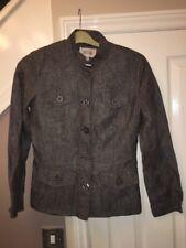 Next Fabulous 100% Linen Lined Brown Speckle  Ladies Blazer Jacket Size 10