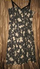 HEARTS AND ROSES PIN UP ROCKABILLY DRESS HOT TOPIC SIZE 16 NWT