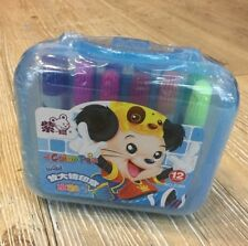 Box Set 12 Pennarelli Color Pen Colorati Bambini Gioco Colorare Divertimento dfh