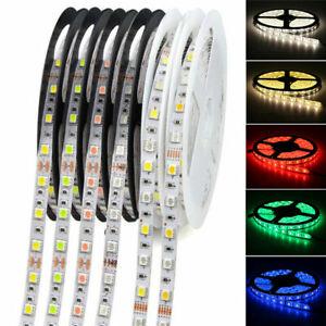 12V 2835 5050 Waterproof LED Strip Lights 60leds/m Flexible Tape Rope Lamp 5M UK