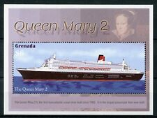 Grenada 2004 MNH Famous Ocean Liners Queen Mary 2 1v S/S Ships Boats Stamps
