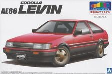 Aoshima 1/24 Model Car Kit Toyota AE86 Corolla Levin Red/Black Pre-painted '84