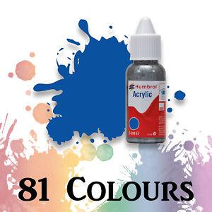 Humbrol Acrylic Model Paint 14ml Bottles Hobby Paints in Dropper Bottles