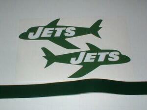 NEW YORK JETS THROWBACK FULL SIZE FOOTBALL DECALS