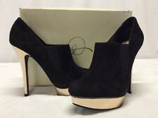 Rachel Roy LYNDAH Women's Platform Heels Shoes, Black Suede, Size 9 M,Bridal