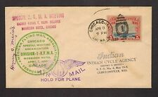 1930 Indian Motorcycle Cover Scarce SIGNED Autographed Henry O. Meisel