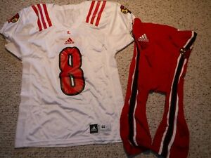 LOUISVILLE CARDINALS AUTHENTIC FOOTBALL JERSEY #8 LAMAR JACKSON WITH GAME PANTS