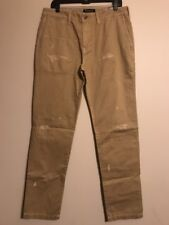 NWT AMERICAN EAGLE Men's Slim Straight Chino 32x36 Beige Destroyed #421536