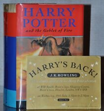 OFFICIAL SIGNING 1ST/1ST ED~ HARRY POTTER AND THE GOBLET OF FIRE ~ J.K. ROWLING
